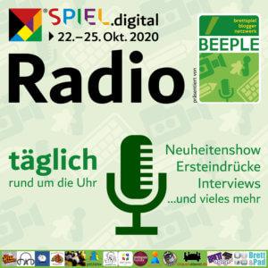 Logo Beeple MesseRadio